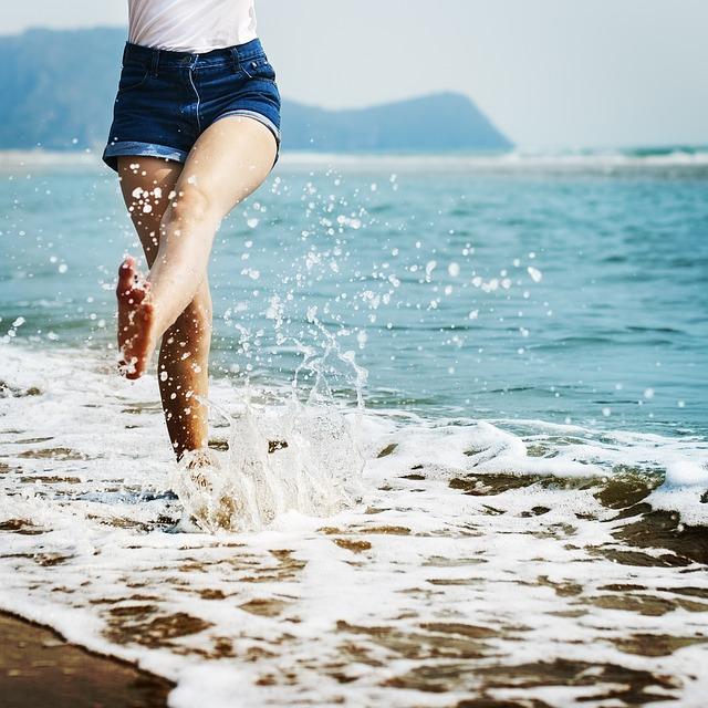 cákání v moři