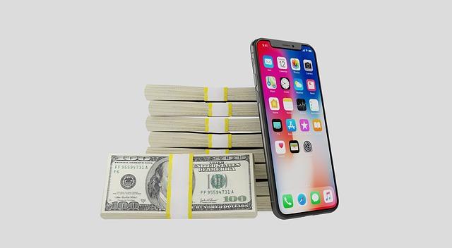 peníze a mobil